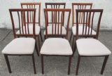 Set of Six Mahogany Dining Chairs by Nathan
